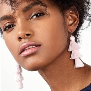 Mini Gabriela Pink Tassel Fringe Earrings